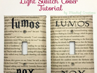Harry potter light switch cover tutorial